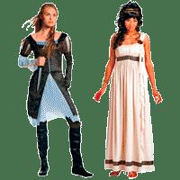 Женские исторические костюмы